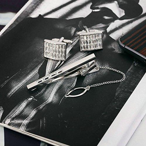 Gnzoe Acier inoxydable HommeModerne Conception Cuff Link + Tie Bar Parures