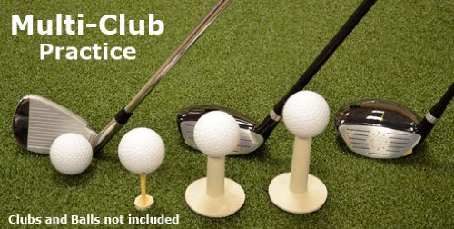 (Golf Mat 4' x 5' Dura-Pro Multi-Club Champion WoodTee Driver - Iron - Fairway Wood Golf Mats - Versatile Multi-Club Use - Includes Adjustable Wood Tee Plug to Adjust Your Wood Tee Height & Rubber Tees For Your Drivers - FREE SHIPPING - 8 Year Warranty - NO SHOCK! - NO BOUNCE! - Hit Down and Through - Dura-Pro Golf Mats Make All Other Golf Mats Obsolete! Family Owned and Operated Since 1997 - Dura-Pro Golf Mats are the #1 Mat in Golf! Includes FREE Golf Ball Tray!)