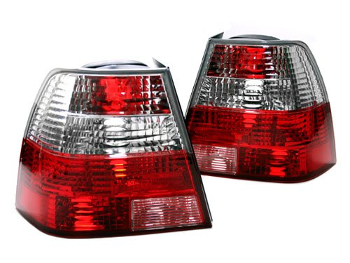 MK4 RGR-STYLE EURO TAILLIGHTS - CRYSTAL CLEAR/RED (Bora Crystal)