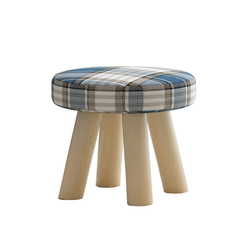 LPYMX Household Stool, Sofa Bench, Wooden Stool, Stool (Color : Blue)