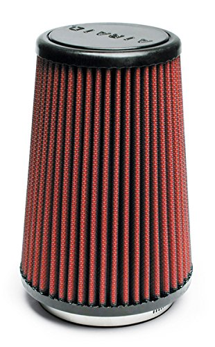 Airaid 700-430 Universal Clamp-On Air Filter: Round Tapered; 3.5 in (89 mm) Flange ID; 7 in (178 mm) Height; 4.625 in (117 mm) Base; 3.5 in (89 mm) Top