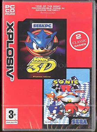 Sonic 3D Flickies Island (AKA Sonic 3D Blast) AND Sonic R (Windows CD)  Double Pack