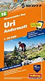 MTB-Karte 15 Uri Andermatt 1:50.000: Mountainbike Map (Hallwag Mountainbike-Karten)