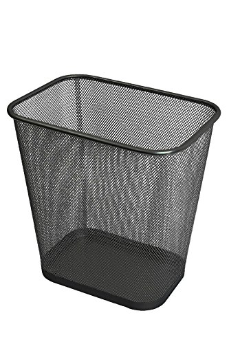 Ybmhome Steel Mesh Rectangular Open Top Waste Basket Bin Trash Can for Office Home 8x12x12 Inches 1103s (1, Black) ()