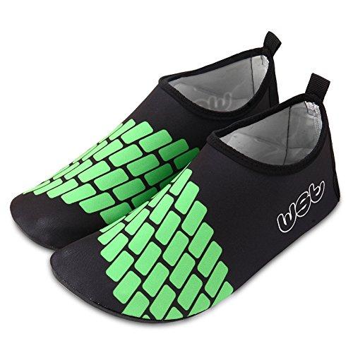 CIOR Männer Frauen und Kinder Barfuß Haut Schuhe Rutschfeste Wasser Schuhe Für Strand Pool Surf Yoga Übung S.black