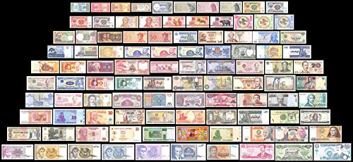 Colombian Banknotes Ats 100 Pieces (PCS) of Different World MIX,Currency,Uncirculated,, Ship From USA Fast Delivery