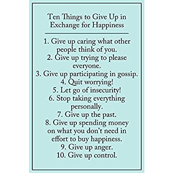 Amazoncom Motivational Quotes Posters Prints Ten Things To Give Up