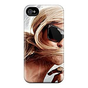 QngVnZy8474FgsXS Tpu Case Skin Protector For Iphone 4/4s Girls Glasses Piercings Sunlight With Nice Appearance