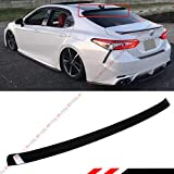 Cuztom Tuning FITS for 2018-2019 Toyota Camry LE SE XSE XLE Hybrid Glossy Black Rear Window ROOF Spoiler