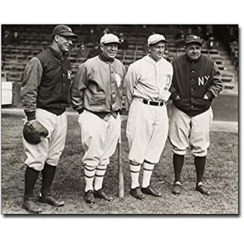 8fe88e69c Lou Gehrig, Tris Speaker, Ty Cobb and Babe Ruth Baseball 8x10 Silver Halide  Photo