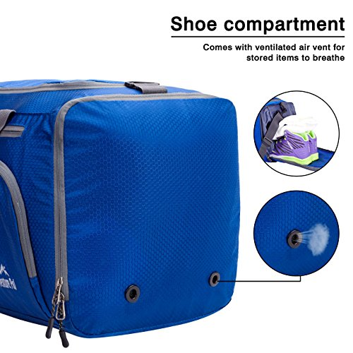 Venture Pal Packable Sports Gym Bag with Wet Pocket & Shoes Compartment Travel Duffel Bag for Men and Women-Royal Blue by Venture Pal (Image #3)