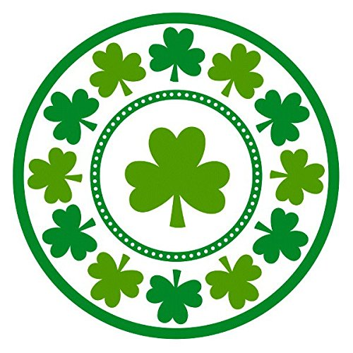 amscan St. Patrick's Day Shamrocks Round Paper Plates, 8 Ct. | Party Tableware]()