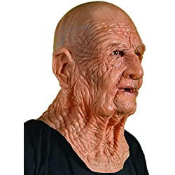 Zagone DOA Mask, Old Dead Bald Wrinkly Man Super Soft Latex
