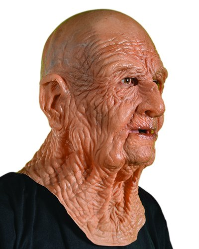 Halloween Old Mask (Zagone DOA Mask, Old Dead Bald Wrinkly Man Super Soft)
