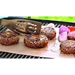 """YOSHI GRILL & BAKE MATS (2 Pack), Copper 17 100% non stick - food slides right off! Contains 2 mats for grilling and/or baking - each measure 15. 75"""" x 13"""" Infused with real Copper, PFOA free and can withstand heat up to 500 degrees"""