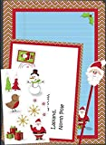 Write To Santa Letter Pack 2 Letters To Santa 1 Envelope To Santa Pencil + Santa Eraser 1 Sheet Of Stickers Child Party Christmas Gift
