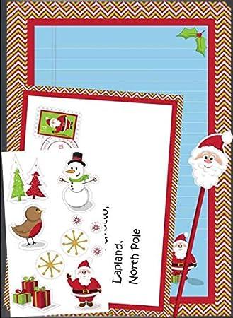 Set para escribir la carta a Papá Noel con 2 folios para ...