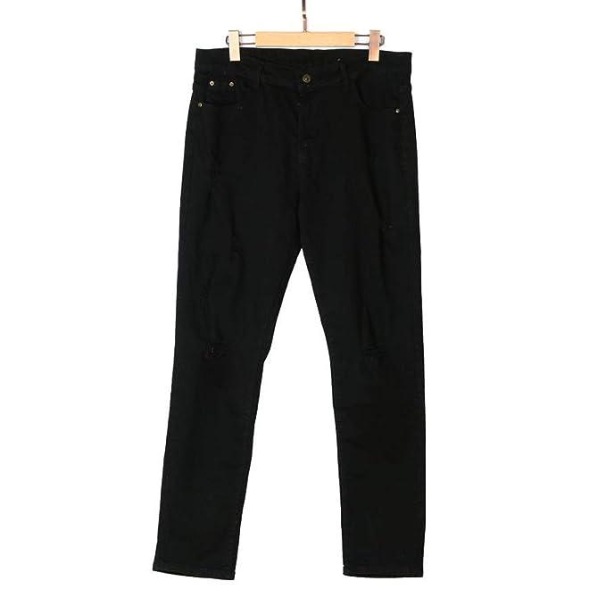 mejor servicio f975f 0ecc6 Frozac Mens Slim Fit Biker Straight Denim Jeans Hiphop ...