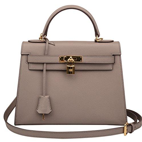 Hobo Bag Grey Ainifeel Purse Purse Shoulder Padlock Handbags Women's Satchel 8wx0q8g6