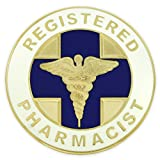 PinMart's Registered Pharmacist Medical Caduceus Lapel Pin