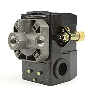 Lefoo Pressure Switch Control 90-125psi 4 Port Heavy Duty 26 Amp for Air Compressor LF10A-4H-1-NPT1/4-90-125