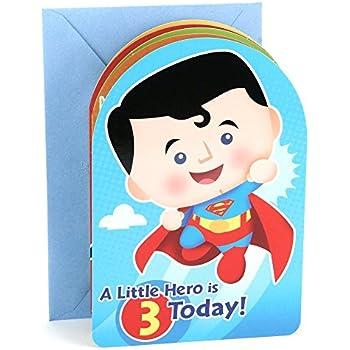 Amazon hallmark 3rd birthday greeting card for boy superman hallmark 3rd birthday greeting card for boy superman batman iron man green m4hsunfo