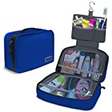 "Dot&Dot Hanging Toiletry Bag for Men, Women and Kids - Organizer for Travel Accessories and Toiletries (11"" x 6.75"" x 3"", Dark Blue)"