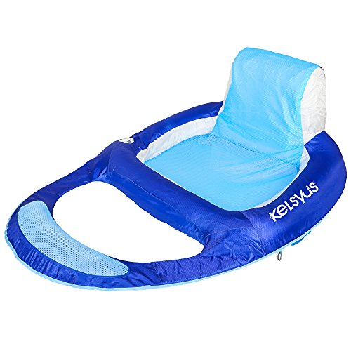 Kelsyus Deluxe Inflatable Mesh Floating Lounger with Built-