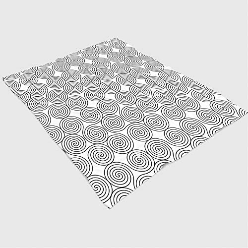 Super Soft Throw Blanket Custom Design Cozy Fleece Blanket/Perfect for Couch Sofa or Bed/49x59 inches/Celtic Decor,Vintage Constant Triple Spiral Celtic Pattern with Rotational Symmetric Lines Boho ()