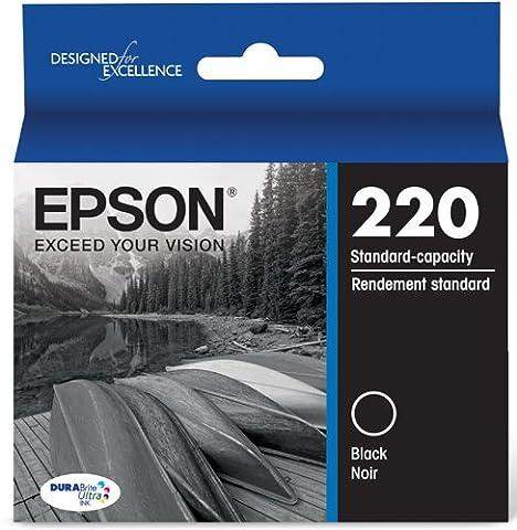 Epson T220120 DURABrite Ultra Black Standard Capacity Cartridge Ink (WF-2760, WF-2750, WF-2660, WF-2650, WF-2630, XP-424, XP-420, (Epson 220 Inks)