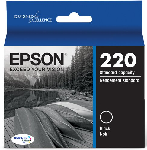 Epson T220120 DURABrite Ultra Black Standard Capacity Cartridge Ink (WF-2760, WF-2750, WF-2660, WF-2650, WF-2630, XP-424, XP-420, XP-320) by Epson
