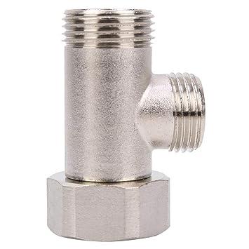Toilet Valve 7/8 Brass T Adapter Shower Head Three Connector Valve for Toilet Shower Head Diverter Valve Aerators