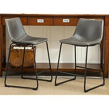 Amazon Com Baxton Studio Montclare Leather Modern Counter