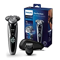 Philips Serie 9000 S9711/41 - Afeitadora electrica con barbero, display digital, funda de viaje, color negro