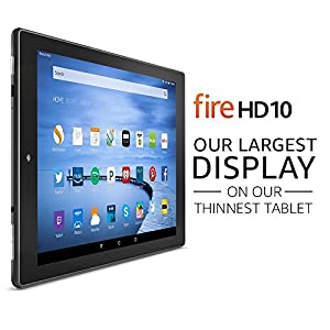 "Certified Refurbished Fire HD 10 Tablet, 10.1"" HD Display, Wi-Fi, 16 GB - Includes Special Offers, Black"