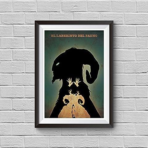 Pan's Labyrinth Minimalist Poster Guillermo del Toro Alternative Movie Print El laberinto del fauno Ofelia and the Faun Pale Man Illustration Home Decor Cinema Artwork Wall Art Hanging Cool - Alternative Wall Art