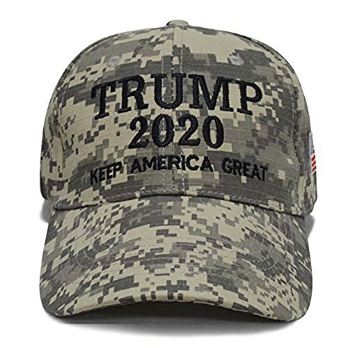 Wholesale Camo Caps - YAKER Trump 2020 Keep America Great Embrodiery Campaign Hat USA Baseball Cap (009 Digital Camo)