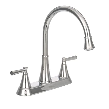 Cantara 3 Or 4 Hole 2 Handle Side Sprayer Kitchen Faucet In Polished