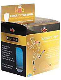 KB Tape Medical Grade Elasticized Tape for Injuries - Blue Continuous