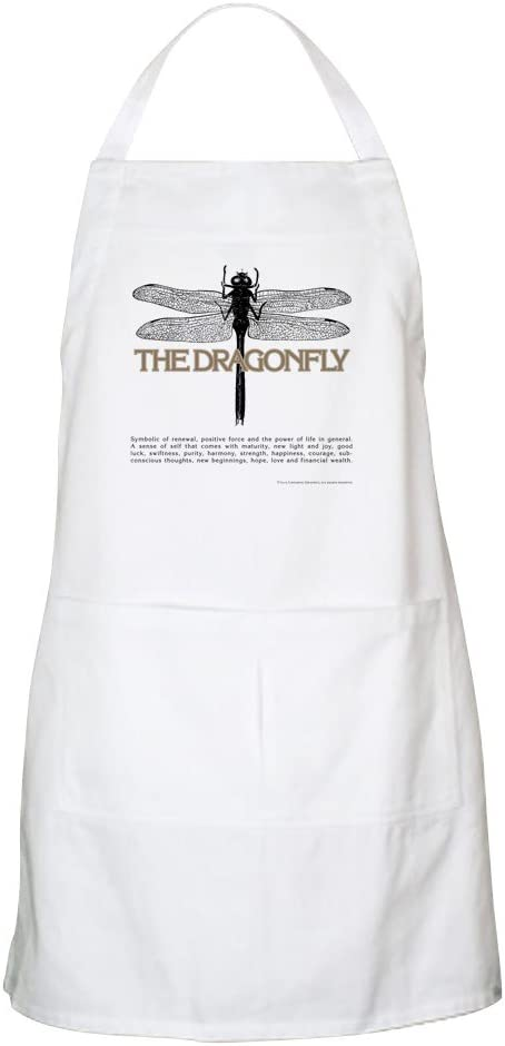 Dragonfly BBQ Apron CafePress Kitchen Apron with Pockets