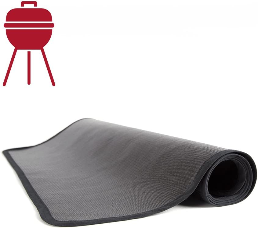 Alfombra ignífuga protectora de suelo para barbacoa (50 x 100 cm)