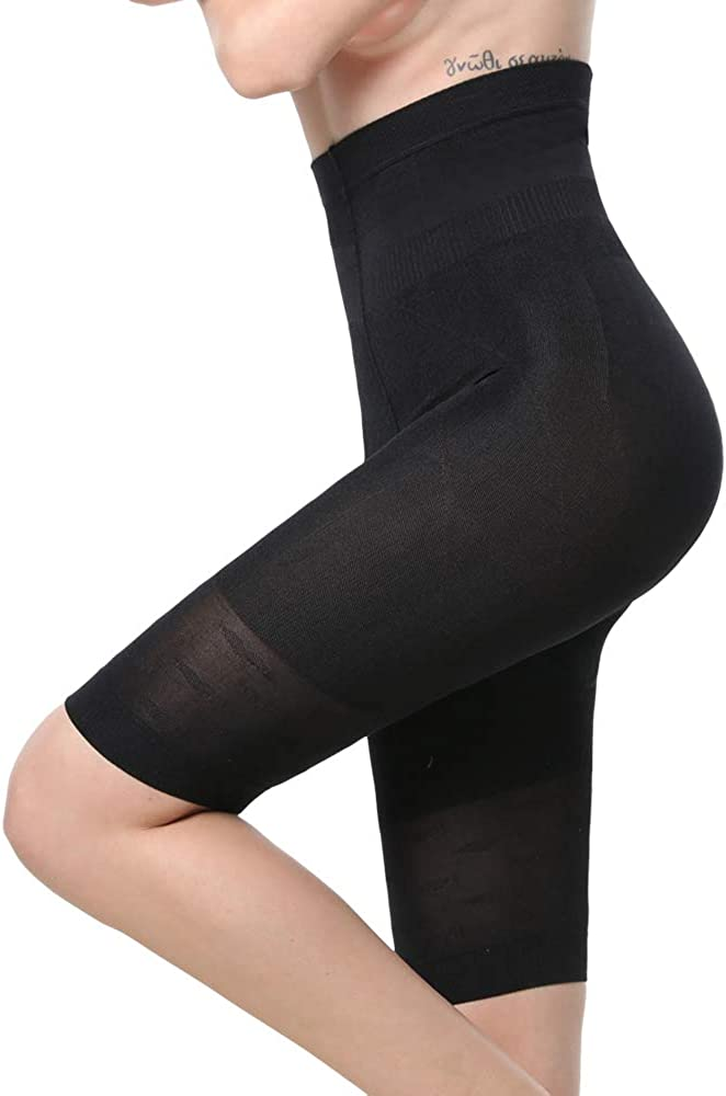 Cacosa Womens Shapewear High Waist Tummy Control Thigh Slimmer Body Shaper Bodysuit Shorts Boyshorts Panties