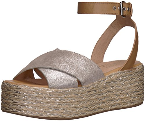 (Seychelles Women's Much Publicized Espadrille Wedge Sandal, Silver, 7.5 M US)