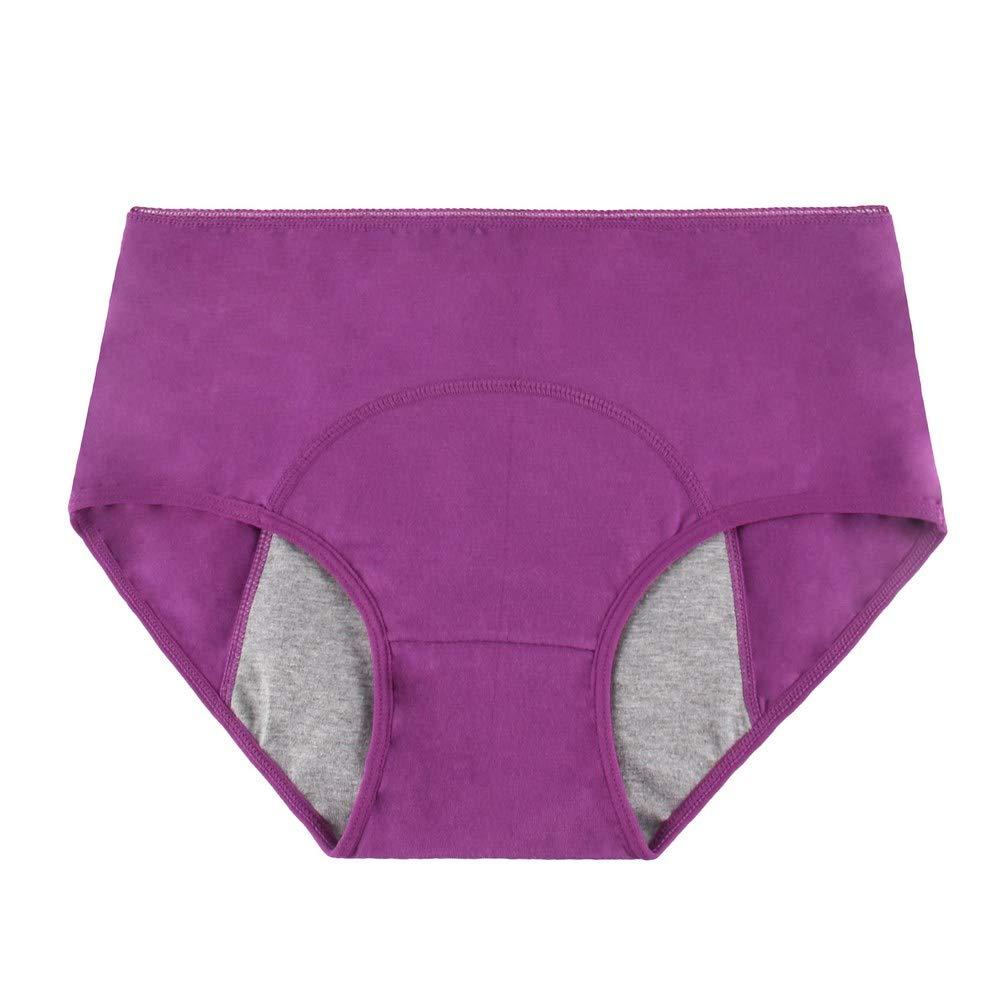 Phennies Womens Big Girls Menstrual Period Briefs Panties Teen Girls Leak Proof Underwear Pack of 4