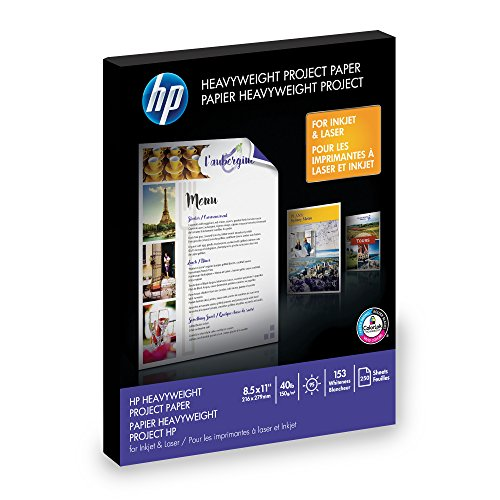 HP Heavyweight Project Paper for Inkjet & Laser Printer, 8.5x11, 250 ()