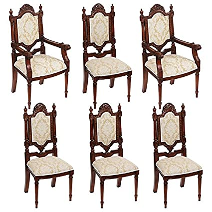 Amazon.com: Madison Collection S/6 Salon Des Rosiers Chairs ...