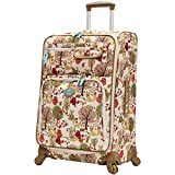 Lily Bloom Midsize 24'' Expandable Design Pattern Luggage With Spinner Wheels For Woman (24in, Forest)