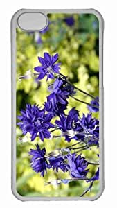 Customized iphone 5C PC Transparent Case - Violet Flowers 2 Personalized Cover