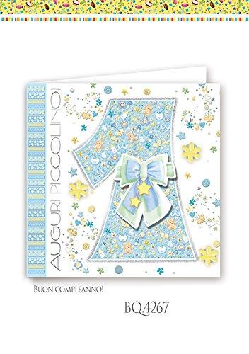 Boutique tarjeta felicitación cumpleaños 1 año Niño Cuadrado ...