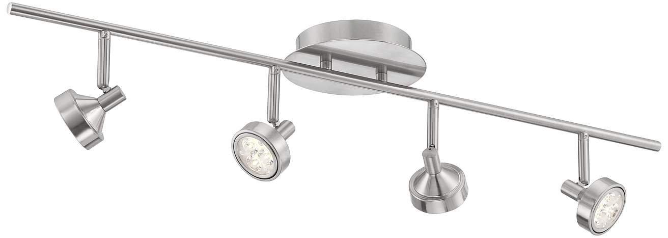 Pro-Track Tilden 4-Light Brushed Steel LED Ceiling Light